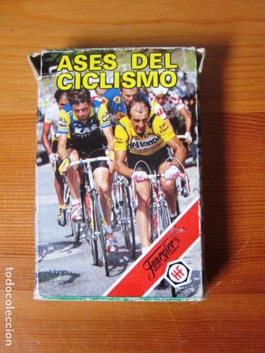 Barajas de cartas: Baraja Juego de Cartas naipes Fournier ASES DEL CICLISMO. FOURNIER. 1988. - Foto 2 - 213000787