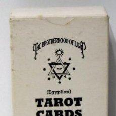 Barajas de cartas: TAROT CARDS, THE CHURCH OF LIGHT. (EGYPTIAN). THE BROTHERHOOD OF LIGHT. 1964. Lote 213007253
