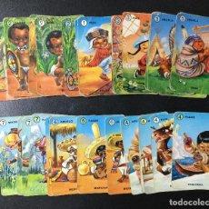 Barajas de cartas: BARAJA FAMILIAS , COMPLETA , USADA. Lote 213062243
