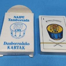 Barajas de cartas: NAIPE TAMBORRADA - DANBORRADAKO KARTAK - BARAJA COMPLETA 1981. Lote 213217945