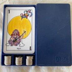 Barajas de cartas: BARAJA DE CARTAS DE MUS FOURNIER PUBLICIDAD PERIODICO ABC ILUSTRACIONES MINGOTE 40 CARTAS NAIPES. Lote 213378015