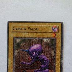 Barajas de cartas: CARTA YU-GI-OH ORIGINAL EN ESPAÑOL YU GI OH GOBLIN FALSO. Lote 213588631