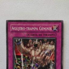 Barajas de cartas: CARTA YU-GI-OH ORIGINAL EN ESPAÑOL YU GI OH AGUJERO - TRAMPA GEMINIS. Lote 213589008