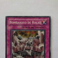 Barajas de cartas: CARTA YU-GI-OH ORIGINAL EN ESPAÑOL YU GI OH BOMBARDEO DE ROCAS. Lote 213589087