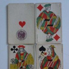 Barajas de cartas: ANTIGUA BARAJA NAIPES SIGLO XIX B P GRIMAUD - INCOMPLETA - TIMBRE 30 CÉNTIMOS MORADO - RARO. Lote 213733090