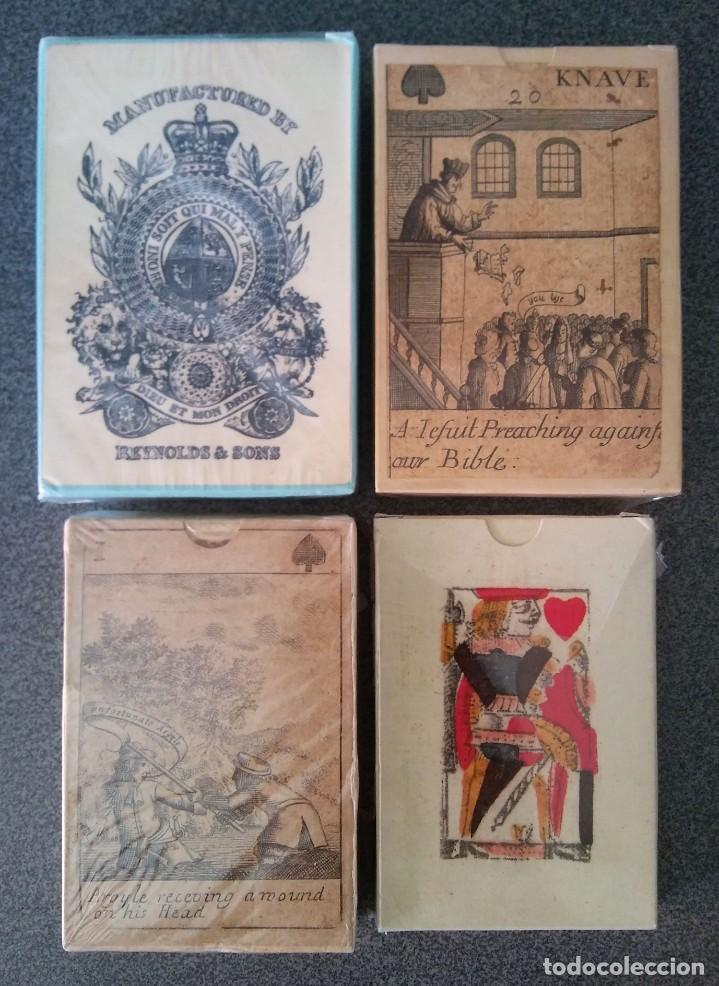 LOTE BARAJAS BRITANICAS MUSEO FOURNIER (Juguetes y Juegos - Cartas y Naipes - Otras Barajas)