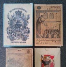 Barajas de cartas: LOTE BARAJAS BRITANICAS MUSEO FOURNIER. Lote 213738911