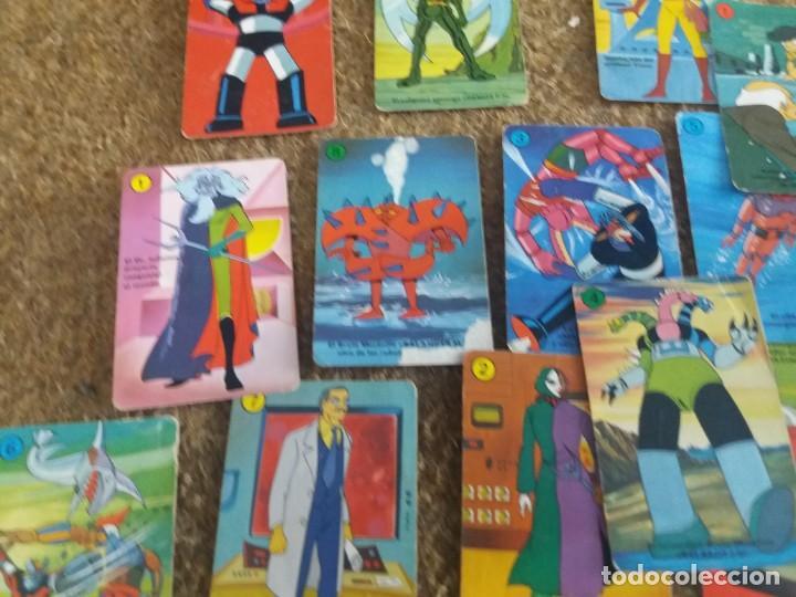 Barajas de cartas: Lote de 31 cartas originales. Años 70. Mazinger Z. Baraja Heraclio Fournier. Falta una carta. - Foto 4 - 213758237