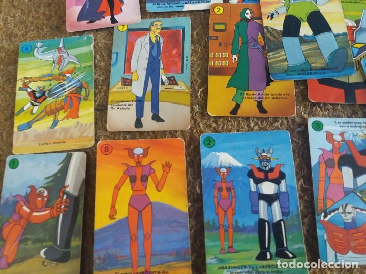Barajas de cartas: Lote de 31 cartas originales. Años 70. Mazinger Z. Baraja Heraclio Fournier. Falta una carta. - Foto 5 - 213758237