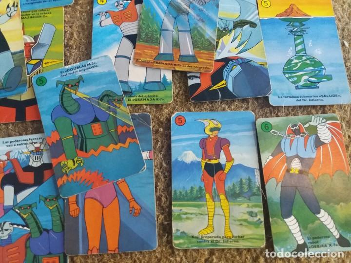 Barajas de cartas: Lote de 31 cartas originales. Años 70. Mazinger Z. Baraja Heraclio Fournier. Falta una carta. - Foto 6 - 213758237