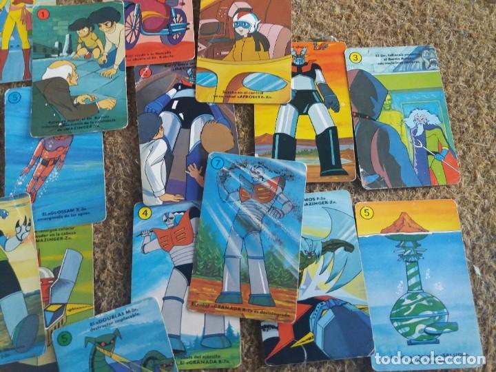 Barajas de cartas: Lote de 31 cartas originales. Años 70. Mazinger Z. Baraja Heraclio Fournier. Falta una carta. - Foto 7 - 213758237
