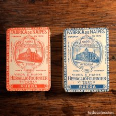 Mazzi di carte: BARAJAS FOURNIER AÑOS 30 JUEGO RUEDA (LOTE DE 2). Lote 247094855