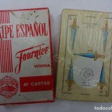 Baralhos de cartas: NAIPE ESPAÑOL FOURNIER. BARAJA CON PUBLICIDAD STARLUX AL REVERSO.. Lote 213765028