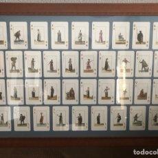 Barajas de cartas: BARAJA ESPAÑOLA ENMARCADA ESPAÑOLES 1800. Lote 214046220
