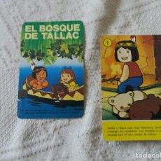 Barajas de cartas: BARAJA DE FOURNIER. EL BOSQUE DE TALLAC. FALTA UNA CARTA Y LA CAJA.. Lote 214096142
