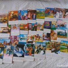 Barajas de cartas: LOTE DE 32 CARTAS SUELTAS. BARAJA ERASE UNA VEZ EL HOMBRE. FOURNIER. BUEN ESTADO.. Lote 214318585