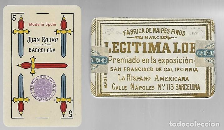 BARAJA LEGITIMA LOBA, JUAN ROURA, MADE IN SPAIN. TIMBRE EXPORTACION. PRECINTADA PERFECTA. (Juguetes y Juegos - Cartas y Naipes - Baraja Española)