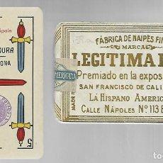 Barajas de cartas: BARAJA LEGITIMA LOBA, JUAN ROURA, MADE IN SPAIN. TIMBRE EXPORTACION. PRECINTADA PERFECTA.. Lote 214395902