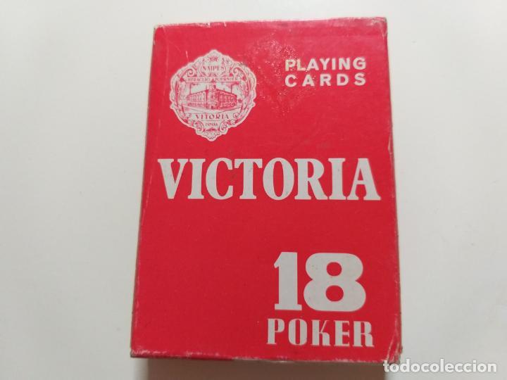 JUEGO DE CARTAS VICTORIA. 18 POKER. FOURNIER. (Juguetes y Juegos - Cartas y Naipes - Otras Barajas)