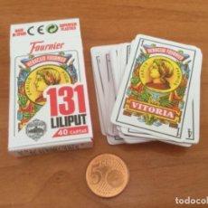 Barajas de cartas: PEQUEÑA BARAJA ESPAÑOLA LILIPUT 131 HERACLIO FOURNIER. 40 CARTAS. Lote 214621023