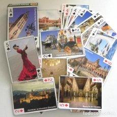 Barajas de cartas: NUEVA BARAJA CARTAS PÓQUER DE ANDALUCÍA CON FOTOS - TURISMO RECUERDO NAIPES ANDALUCES ESPAÑA JUGUETE. Lote 214836166