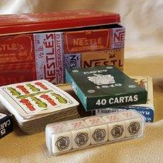 Barajas de cartas: CAJA DE JUEGOS DIERENTES CARTAS Y POKER Y JUEGO DE DADOS. Lote 214882213
