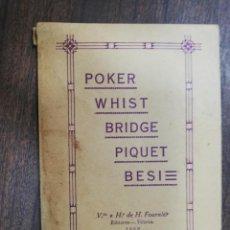 Jeux de cartes: POKER WHIST BRIDGE PIQUET BESI. VDA. E Hº, DE H. FOURNIER. 1932.. Lote 214892787