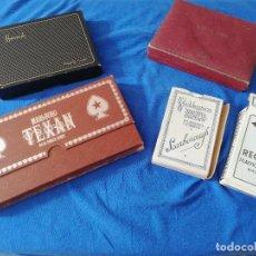 Barajas de cartas: GRAN LOTE BARAJAS DE CARTAS POKER MUY ANTIGUAS CON ESTUCHE NAIPES. Lote 215091645