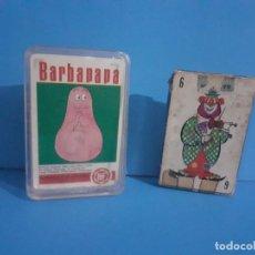 Barajas de cartas: LOTE DE 2 BARAJAS INFANTILES BARBAPAPA Y EL CIRCO DE HERACLIO FOURNIER. COMPLETAS.. Lote 215399738