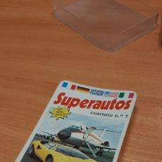 Barajas de cartas: SUPERAUTOS - BARAJA CARTAS - NAIPES COMAS COMPLETA. Lote 215418421