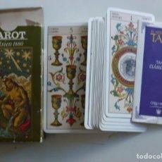Barajas de cartas: BARAJA CARTAS TAROT CLÁSICO 1880 LE SCARABEO AÑO 2000. Lote 215943218