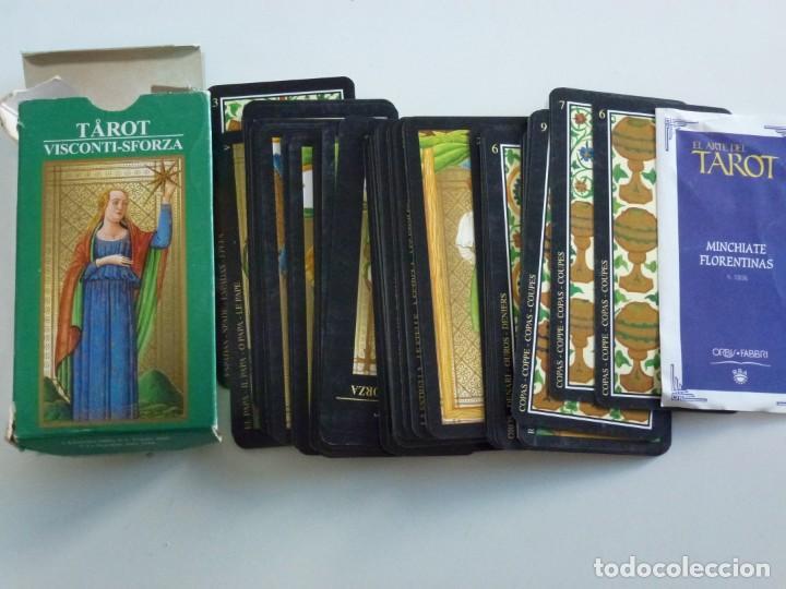 BARAJA CARTAS TAROT VISCONTI . SFORZA FLORENTINO LE SCARABEO AÑO 2000 (Juguetes y Juegos - Cartas y Naipes - Barajas Tarot)