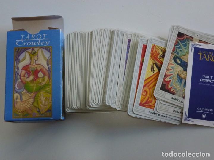BARAJA CARTAS TAROT CROWLEY LE SCARABEO AÑO 2000 (Juguetes y Juegos - Cartas y Naipes - Barajas Tarot)