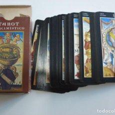 Barajas de cartas: BARAJA CARTAS TAROT ALQUIMISTICO LE SCARABEO AÑO 2000. Lote 215949160