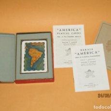Jeux de cartes: ANTIGUA BARAJA H. FOURNIER POKER AMÉRICA ARTES DE LA AMÉRICA PRECOLOMBINA DIBUJOS DE T. MICIANO 1960. Lote 216355292