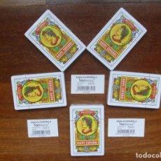Barajas de cartas: BARAJA NAIPE ESPAÑOLA LOTE 5 BARAJAS CARTAS DE MESA NUEVAS GRAN LOTE OPORTUNIDAD LIQUIDACIÓN. Lote 216363358