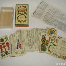 Barajas de cartas: ANTIGUO TAROT ESPAÑOL 22 ARCANOS MAYORES Y 56 ARCANOS MENORES DE HERACLIO FOURNIER - AÑO 1978. Lote 216416235