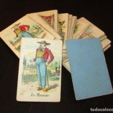 Barajas de cartas: JUEGO DEL MOLINO - JEU DU MOULIN DE WATILLIAUX. JUEGO FRANCÉS DE CARTAS DE FINALES DEL XIX.. Lote 216486612