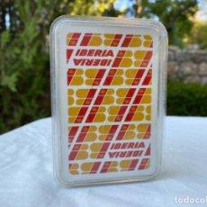 Barajas de cartas: BARAJA ESPAÑOLA CARTAS LOGO PUBLICIDAD AVIONES IBERIA LINEAS AREAS NAIPES COMAS N7 185 ANIVERSARIO. Lote 216532550