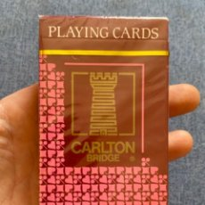Barajas de cartas: BARAJA DE CARTAS PLAYING CARDS PRECINTADA CARTA MUNDI BELGICA BRIDGE POKER NAIPES CARLTON BRIDGE. Lote 216533060
