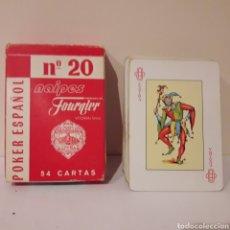 Barajas de cartas: 1961. BARAJA NAIPES ESPAÑOLA FOURNIER N°20.. Lote 216630886
