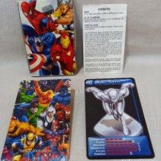 Jeux de cartes: JUEGO DE CARTAS FOURNIER - MARVEL HEROES, 2009 CON CAJA E INSTRUCCIONES COMPLETO. Lote 216636106