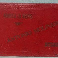 Barajas de cartas: ANTIGUO MUESTRARIO DE NAIPES BARAJA CARTAS FÁBRICA DE NAIPES ANTONIO MOLINER DE BURGOS 1885 - 1927. Lote 216766877