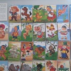 Jeux de cartes: ANTIGUA BARAJA INFANTIL DE FOURNIER.PAREJAS DEL MUNDO.. Lote 216770096