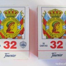 Barajas de cartas: LOTE 2 BARAJAS DE 50 CARTAS FOURNIER Nº32 VITORIA ESPAÑA. Lote 216869027