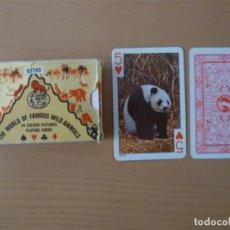 Barajas de cartas: BARAJA ANTIGUA THE WORLD OF FAMOUS WILD ANIMALS. Lote 217042816