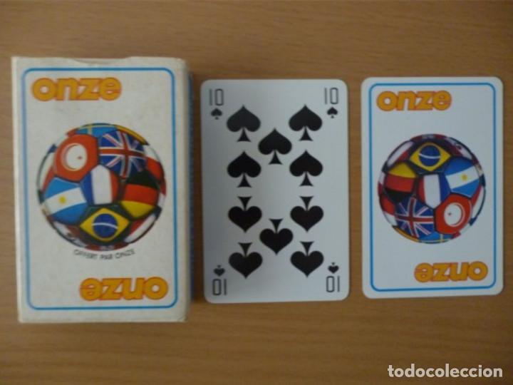 BARAJA REVISTA ONZE DE FÚTBOL FRANCÉS (Juguetes y Juegos - Cartas y Naipes - Barajas de Póker)