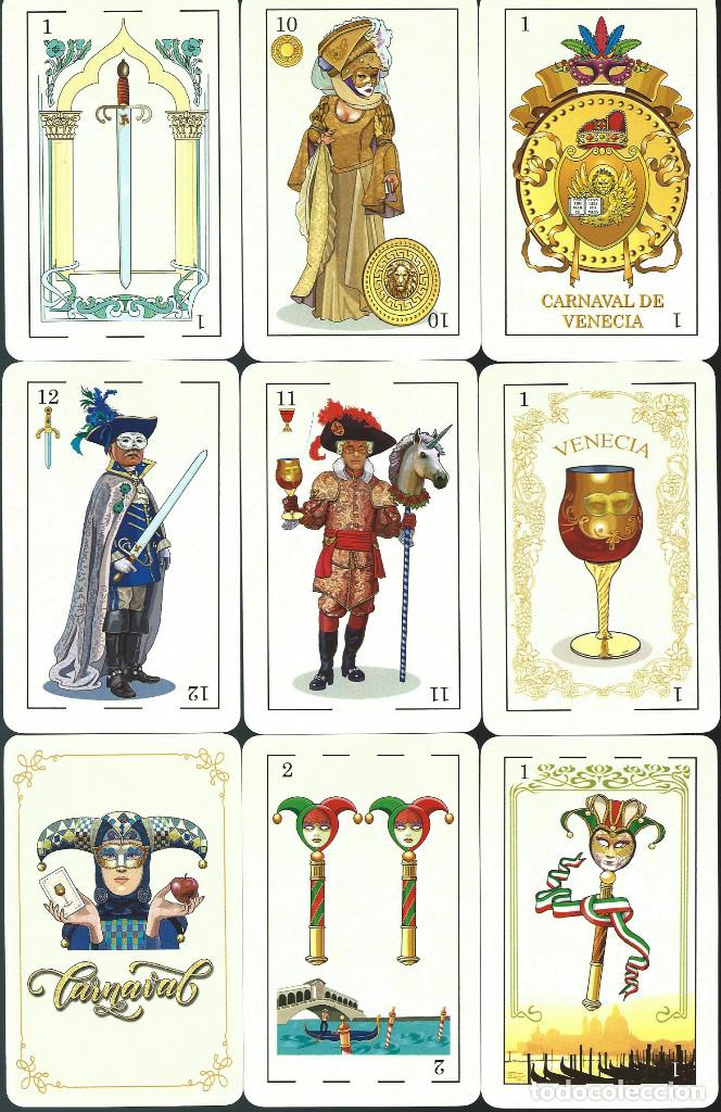 BARAJA ESPAÑOLA CARNAVAL DE VENECIA DE ASESCOIN-AÑO 2020 (Juguetes y Juegos - Cartas y Naipes - Baraja Española)