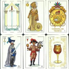 Barajas de cartas: BARAJA ESPAÑOLA CARNAVAL DE VENECIA DE ASESCOIN-AÑO 2020. Lote 217482630