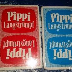 Barajas de cartas: LOTE DE 2 BARAJAS PIPPI LANGSTRUMPF. CUARTETO N° 1 Y N° 2. 1975. PIPI CALZASLARGAS. Lote 217513556